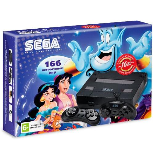 Игровая приставка SEGA Super Drive Aladdin 166игр black