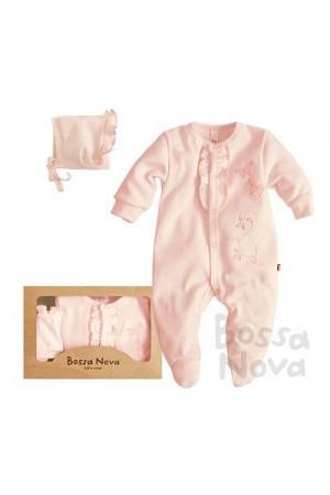 """Подарочный набор для новорожденных. Комплект одежды для малышей """"Зефир"""" розовый"""
