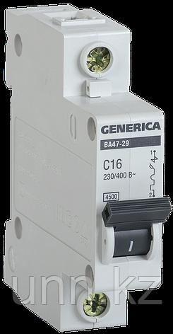 Автоматический выключатель ВА47-29 1Р 20А 4,5кА х-ка С GENERICA, фото 2