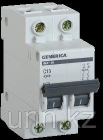 Автоматический выключатель ВА47-29 2Р 16А 4,5кА х-ка С GENERICA, фото 2