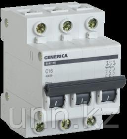Автоматический выключатель ВА47-29 3Р 16А 4,5кА х-ка С GENERICA, фото 2