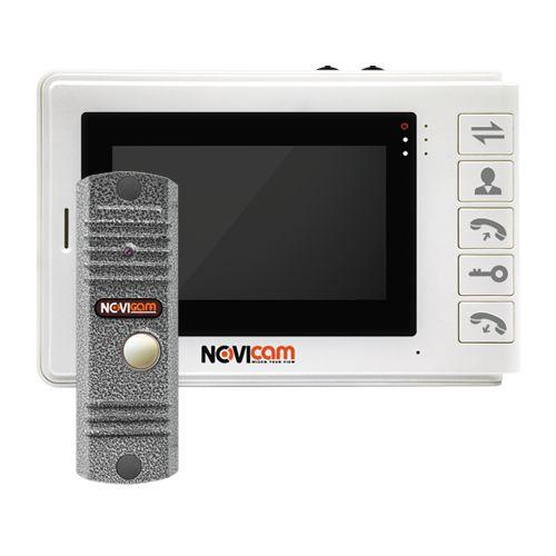 """SMILE 4 KIT - Комплект аналогового видеодомофона (вызывная панель LEGEND SILVER и 4.3 """" монитор Smile 4)."""