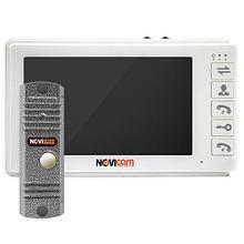 """SMILE 7 KIT - Комплект аналогового видеодомофона (вызывная панель LEGEND SILVER и 7 """" монитор Smile 7)."""
