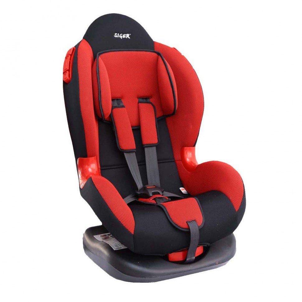 """Детское автомобильное кресло SIGER """"Кокон ISOFIX"""" красный, 1-7 лет, 9-25 кг"""