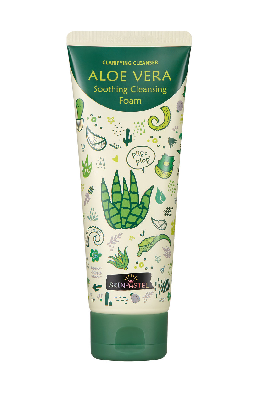 Пенка для умывания/SkinPastel Aloe vera Soothing Cleansing Foam