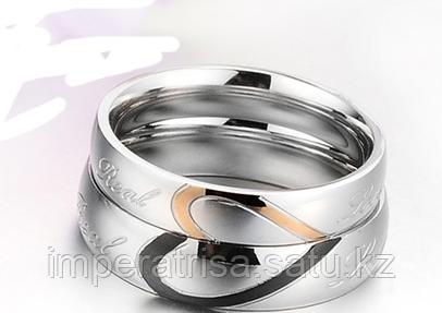 """Двойные кольца для влюбленных """"Кольца-сердце"""""""