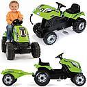 Трактор педальный с прицепом XL зеленый 710111 Smoby, фото 3