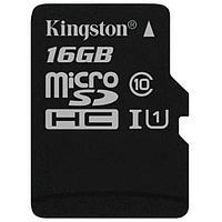 Карта памяти MicroSD 16GB Class 10 U1 Kingston SDCS/16GB