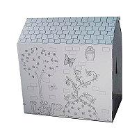 Картонный домик-раскраска+Подарок
