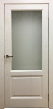 Межкомнатные двери модель Лира (слоновая кость)