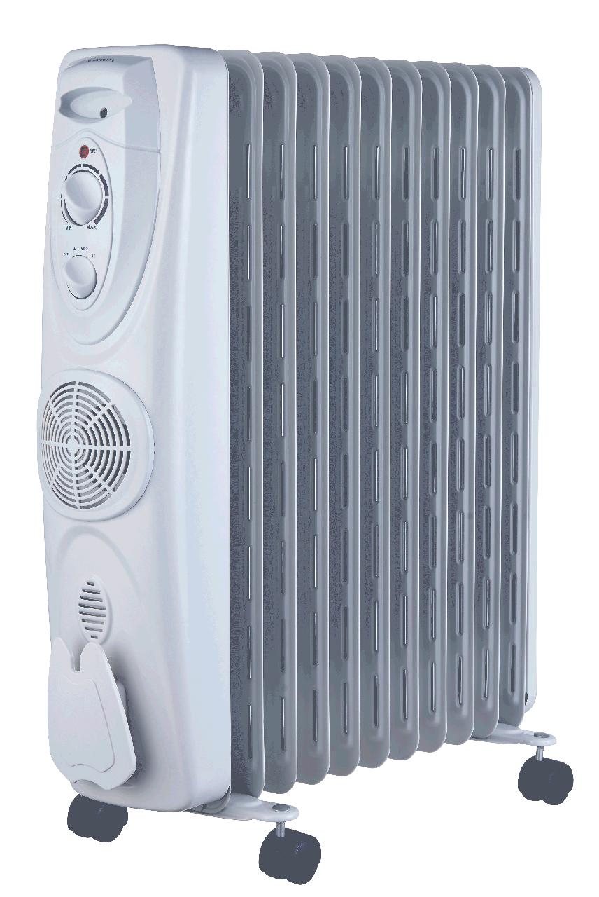Масляный обогреватель MIDEA: NY2009-15EFA (с вентилятором)