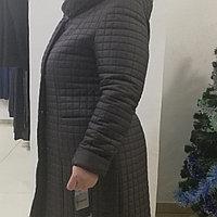 Пальто стеганое женское с мехом кролика