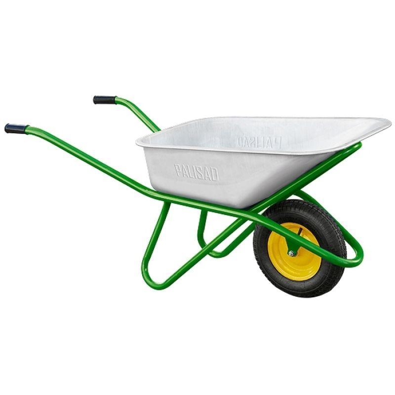 Тачка садово-строительная одноколесная, грузоподъемность 200 кг, объем 90 л Palisad