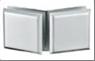 Коннектор стекло-стекло 135° SS304, матовый, T=8mm