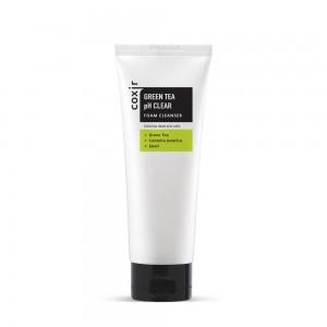Coxir Green Tea pH Clear Foam Cleanser Пенка для умывания против Жирного блеска 150мл.