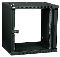 ITK Шкаф настенный LINEA WE 9U 600х450мм дверь стекло черный