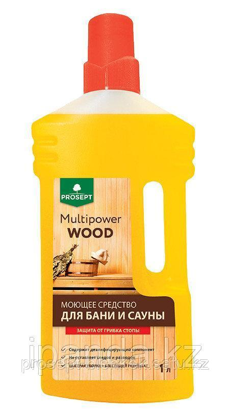 Концентрат моющее средство для бани и сауны, 267-1 Multipower Wood PROSEPT, 1,0 л.
