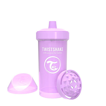 Поильник Twistshake Kid Cup Pastel. 360 мл. Фиолетовый. Возраст 12+m