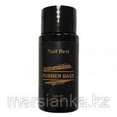 База Nail Best Rubber base (каучуковая прозрачная база), 30мл