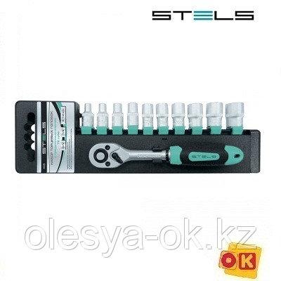 Набор головок 3/8 с трещоточным ключом STELS, фото 2