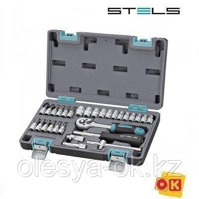 Набор инструментов 1/4. 29 предметов. STELS 14100, фото 2