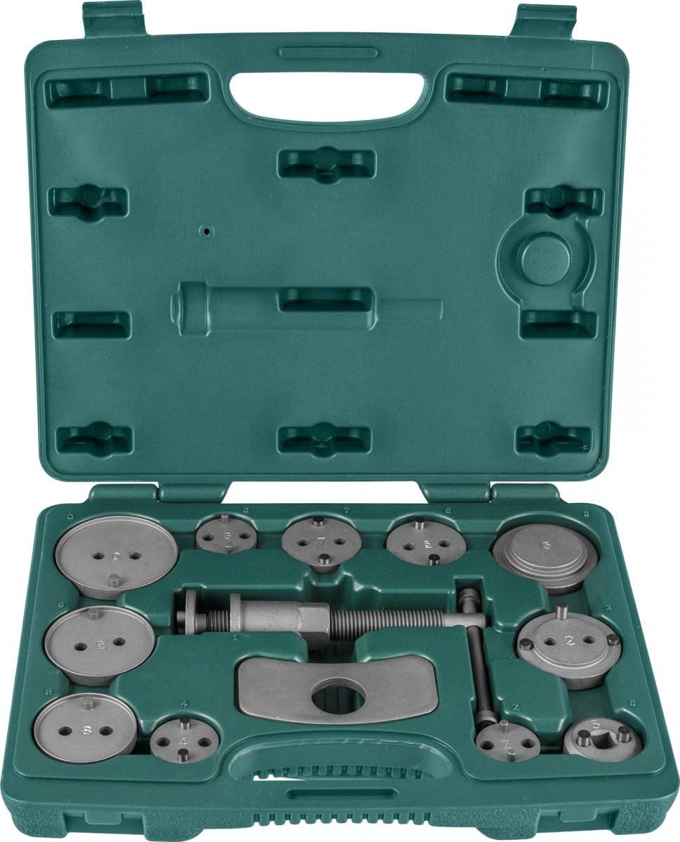Комплект инструмента для развода поршней тормозных цилиндров, 11 предметов