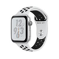 Apple Watch Series 4 44mm Nike+ Silver Aluminum Case with Pure Platinum/Black Nike Sport Band, фото 1
