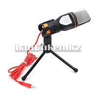Универсальный конденсаторный микрофон aux 3.5 мм jack с мини штативом