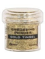 Пудра для эмбоссинга -1унция. Цвет - золото с глитером