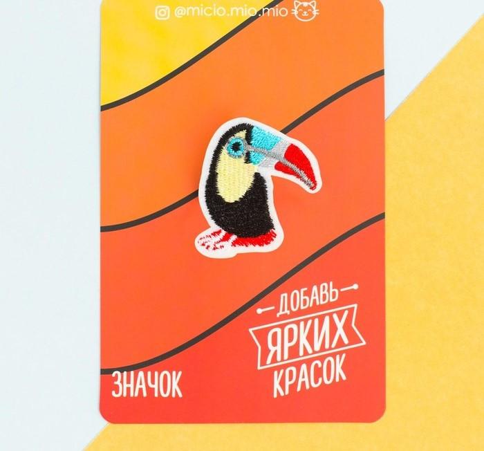 """Текстильный значок """"Тукан"""""""