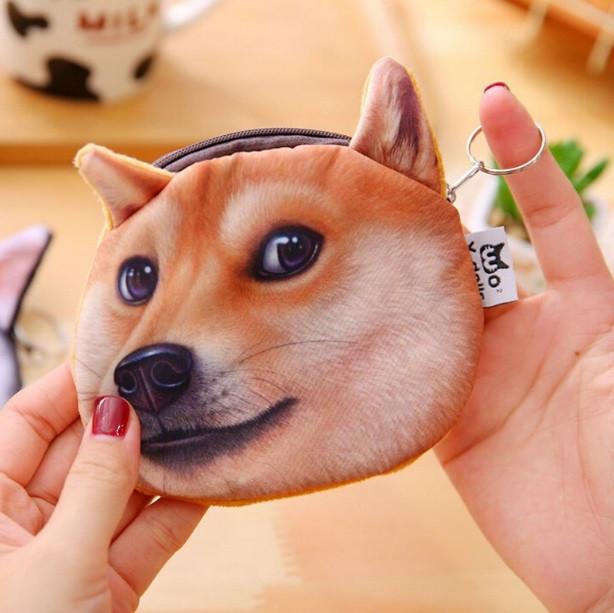 Забавная монетница с 3D-принтом собаки