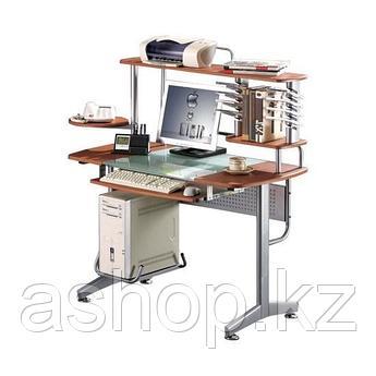 Стол компьютерный Deluxe Montoro, Материал: МДФ, стекло, Цвет: Вишнёвый, (DLFT-3319CT)