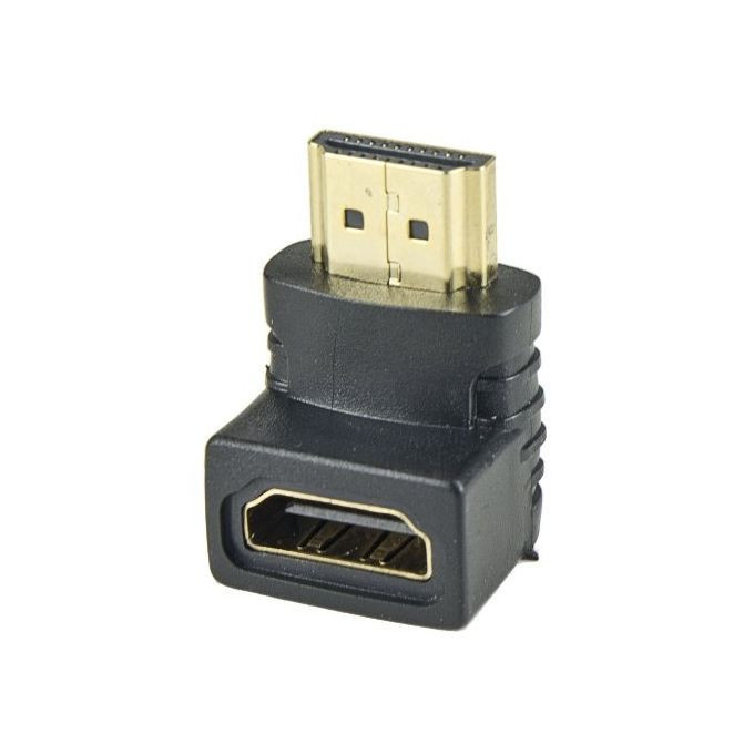 HDMI (f) - HDMI (m) Convertor г-тип Gold-Plated