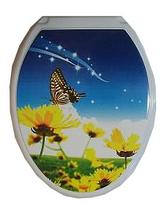 Сиденье для унитаза жесткое ДЕКОР БабочкаРП-813БЦ