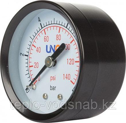 Манометр диаметр 50мм 0-10 bar, осевое соединение, фото 2