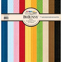 Набор бумаги 12х12 - Double Dot Stripe Bo Bunny