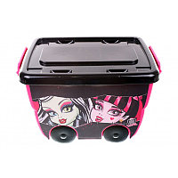 Monster High. Контейнер для хранения на колесиках с закрывающейся крышкой: 25л