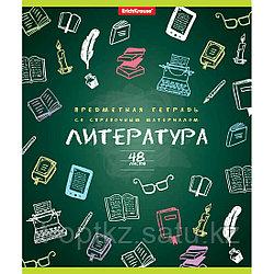 Тетрадь общая ученическая ErichKrause® К доске!, Литература, 48 листов, линейка