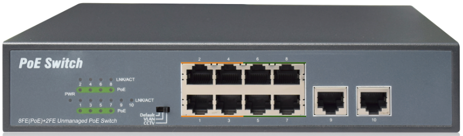 Коммутатор NetVICE SWPU-FE0802
