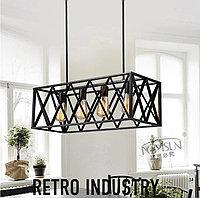 Люстра в стиле Лофт черная на 4 лампы, фото 1