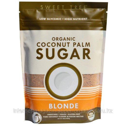 Кокосовый сахар, осветленный, 454 г