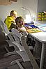 Детский растущий (регулируемый) стул Конек Горбунек. Ортопедический стул. (Белый), фото 4