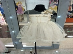 Платье с розочкой