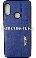Чехол на Xiaomi A2Lite (Xiaomi Mi A2 Lite ) кожзам синий принт бентли