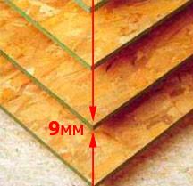 OSB плиты 12 мм, размер 2500*1250