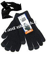 Сенсорные перчатки шерстяные одинарные с начёсом Tech Touch для тач дисплеев (цвета в ассортименте)