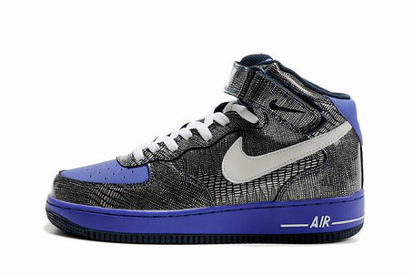 Кроссовки Nike Air Force One Premium графит, фото 2