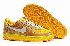 Кроссовки Nike Air Force One Premium золото, фото 2