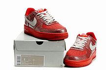 Женские кроссовки Nike Air Force One Premium красные, фото 3