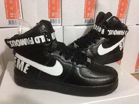 Кроссовки Nike Air Force Supreme X черные, фото 3